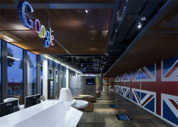 Office Space Reception at Google in London