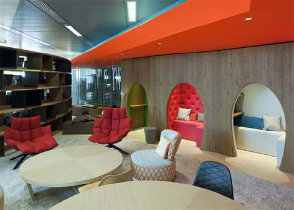 Google 39 s new green london office space work space for Award winning office interiors